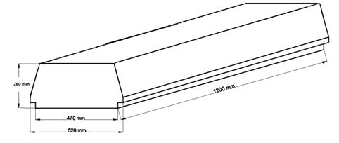 Внешний вид и контролируемые размеры блока марки «Teriva - П- 402 1200