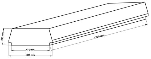 Внешний вид и контролируемые размеры блока марки Teriva - П- 401 -1200