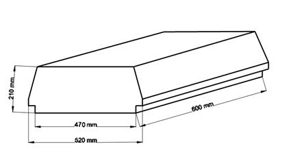Внешний вид и контролируемые размеры блока марки Teriva - П- 401 -600