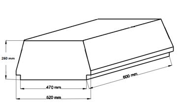Внешний вид и контролируемые размеры блока марки Teriva - П- 402 -600