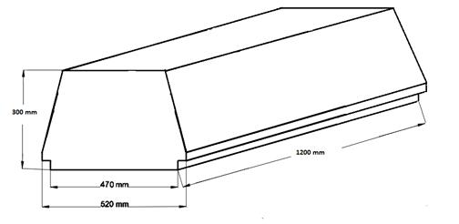 Внешний вид и контролируемые размеры блока марки Teriva - П- 403 -1200