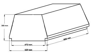Внешний вид и контролируемые размеры блока марки Teriva - П- 403 -600