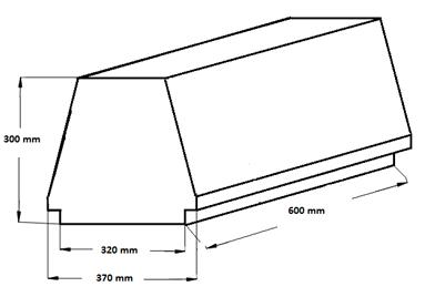 Внешний вид и контролируемые размеры блока марки Teriva - П- 60 -600