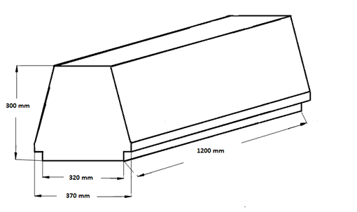 вид и контролируемые размеры блока марки Teriva - П- 60 -1200